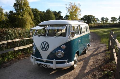 Blue 1964 Split Window Camper