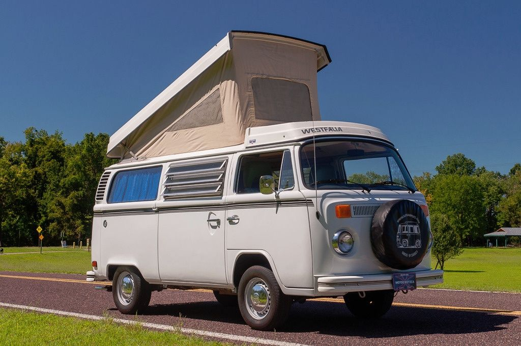 1975 VW Westfalia Camper Canvas Up